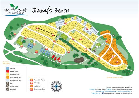Kitchen Island Red north coast holiday parks jimmys beach map