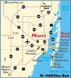 miami map miami florida attractions