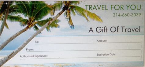 vacation gift certificate template travel for you gift of travel certificate