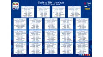 Calendario Serie A 2017 18 Calcio Il Calendario Della Serie A 2017 18 Barcalcio