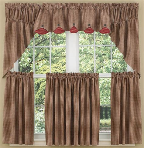 country swag curtains home place lined window curtain swag