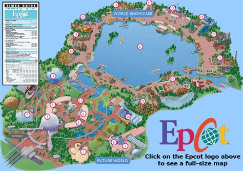 map of epcot epcot by disney pal