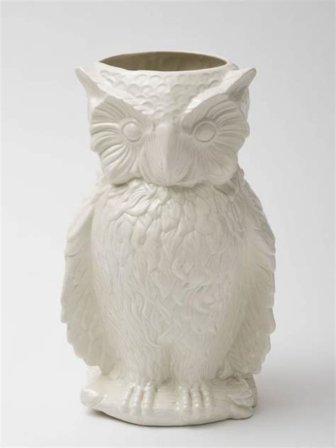 Umbrella Vase by Italian 1960s Ceramic Owl Umbrella Stand Vase For Sale At