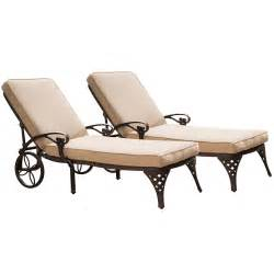 Home styles biscayne chaise lounge chairs 2 cushions by oj commerce