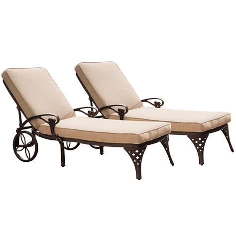 Home Styles Biscayne Chaise Lounge Chairs (2) Cushions by