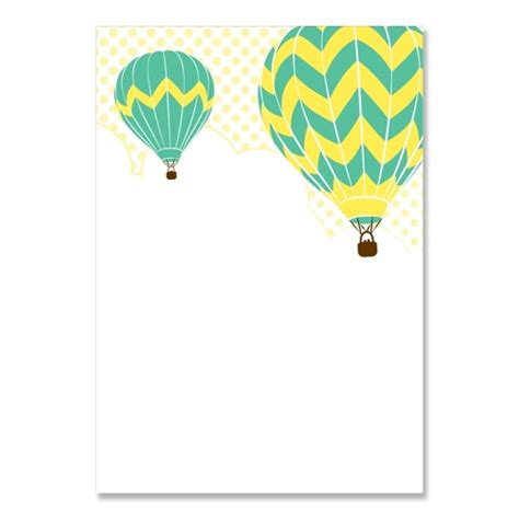 air balloon card template big white air balloon models picture