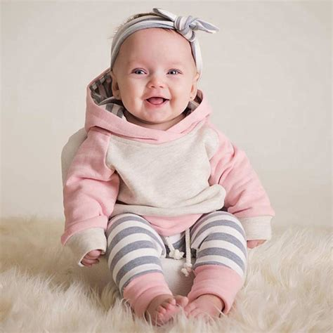 uk toddler baby winter clothes hoodie tops headband 3pcs set ebay