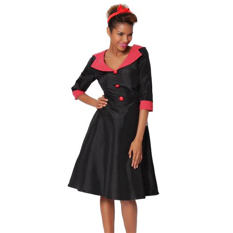 Collar Classic Dress sexyher 1950 s vintage style classic shawl collar dress