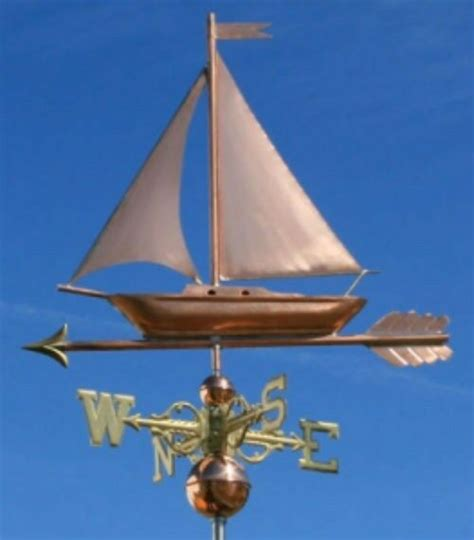 Weathervanes And Cupolas Usa by Copper Quot Fancy Sailboat Quot Weathervane Made In Usa 473s Ebay