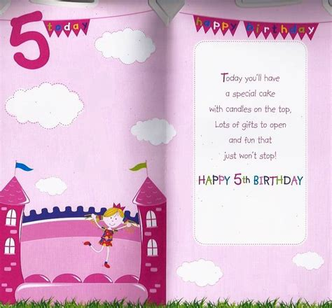 Happy Fifth Birthday Wishes Happy 5th Birthday Quotes For Girls Quotesgram