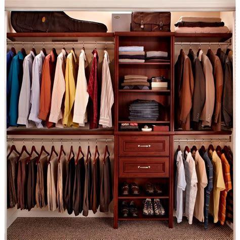 closetmaid kit home depot closetmaid impressions 25 in dark cherry closet kit 30860