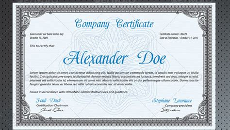 professional certificates templates certificate designs psd studio design gallery best
