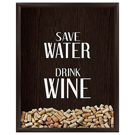 Home Decor Store Online quot save water drink wine quot graphic shadow box bed bath amp beyond