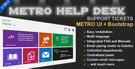 Metro Help Desk metro help desk using bootstrap evereq