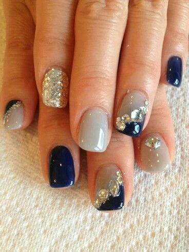 imagenes de uñas acrilicas azul marino las 25 mejores ideas sobre u 241 as azul marino en pinterest y