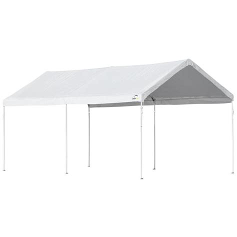 shop shelterlogic 10 ft w x 20 ft l rectangle white