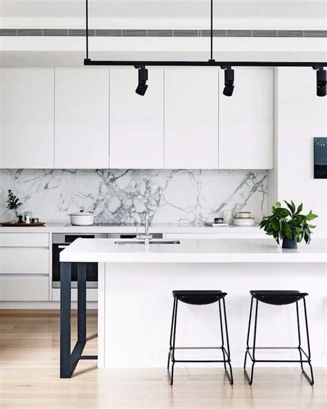 black and white kitchen backsplash 14 white marble kitchen backsplash ideas you ll