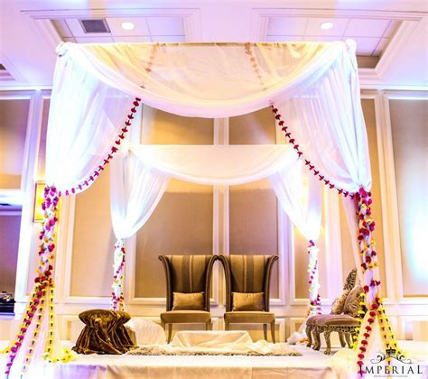 Imperial Decoration   Indian Wedding Floral Mandap Stage