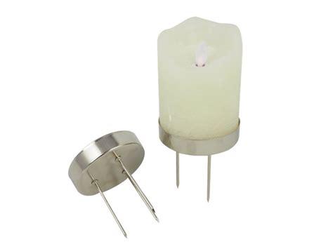 led kerzenhalter kerzenhalter f 252 r led kerzen d8cm silber 183 2019 174