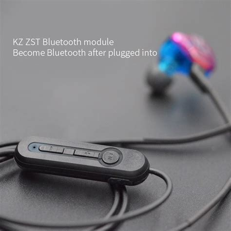 Microphone Wireless Krizer Kz 966 Original original kz zs5 zs6 zs3 zst earphone bluetooth 4 2 upgrade cable hifi dedicated replacement