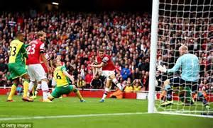 arsenal norwich goal arsene wenger praises jack wilshere s almost perfect
