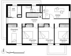 plan gratuit d une de 4 chambres maison moderne