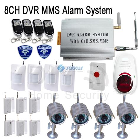 wireless wired home alarm gsm sms pictures