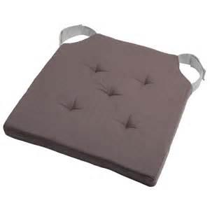 galette de chaise velcro duo 38 cm gris perle