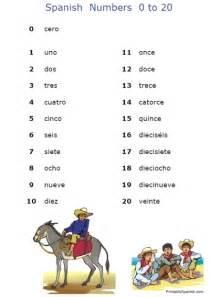 Fran s freebies spanish numbers worksheets home education