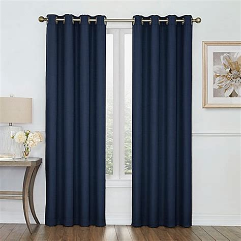 Impressive Room Darkening Curtains In Boucle Grommet Top Room Darkening Window Curtain Panel