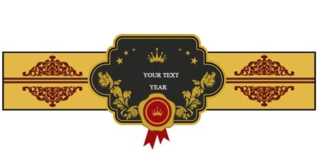cigar band template untitled band