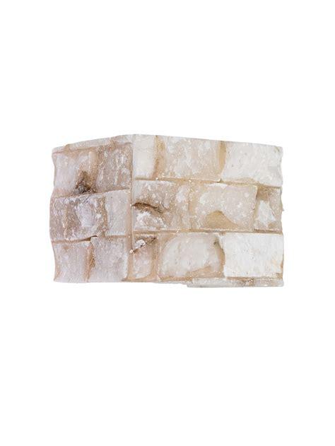 applique rustici applique rustico alabastro a 1 luce carrara