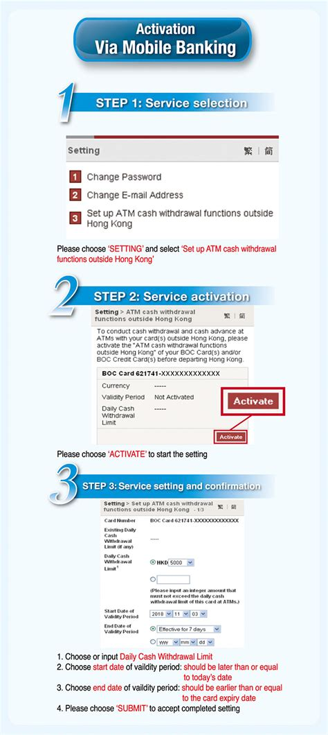 Bank Of China Hong Kong Letter Of Credit note of overseas atm withdrawals limit setting more