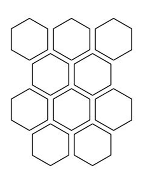 5 inch hexagon template honeycomb pattern use the printable outline for crafts