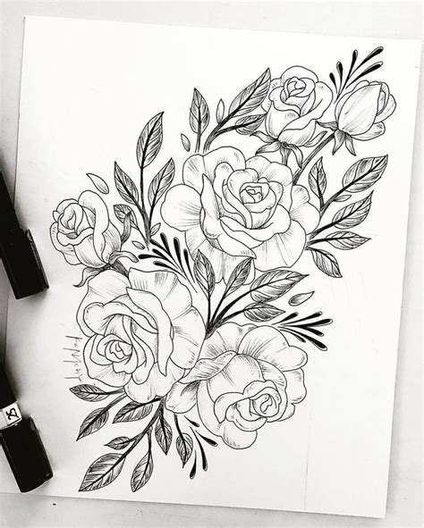 tattoo flower drawn drawing tattoo flower tattoo sleeve tattoos flower tattoos