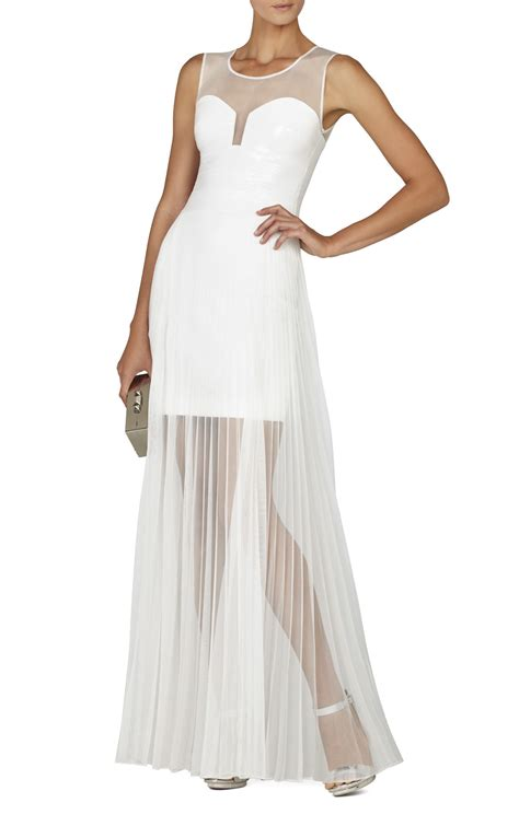 Chiffon Sequin Pouch By Bags To Die For by Bcbgmaxazria Alai Pleated Chiffon Overlay Sequin Dress