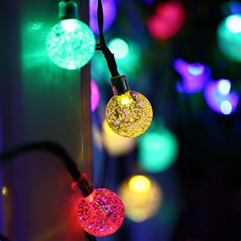 Qedertek Globe Solar String Lights 19 7ft 30 Led Fairy Globe Solar String Lights