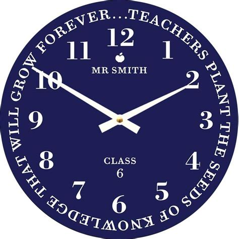 best wall clock personalised best teacher wall clock by cute clocks