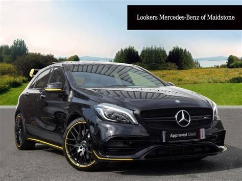 mercedes a class amg black mercedes a class amg a 45 4matic yellow edition