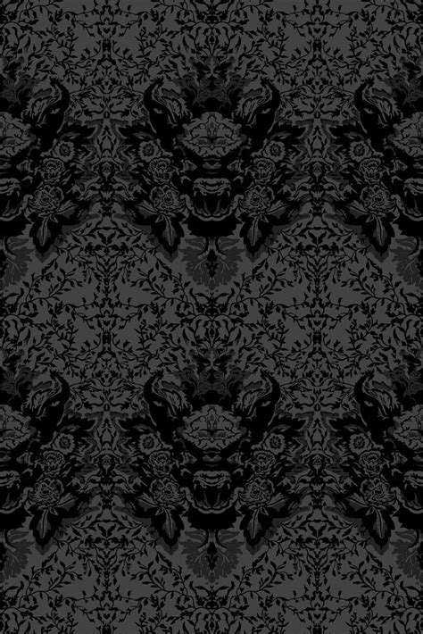 black and white velvet wallpaper timorous beasties wallcoverings devil damask flock wallpaper