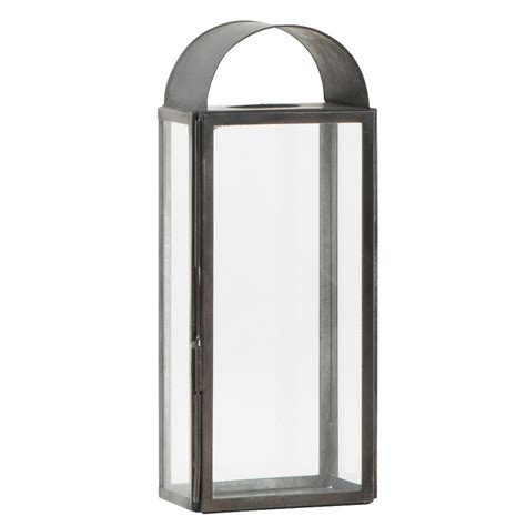 Classico Chair Glass Amp Metal Black Oblong Open Chimney Lantern Candle