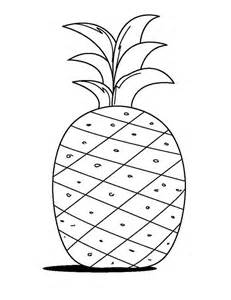 pineapple color pineapple fruit coloring pages