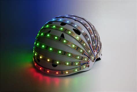 light up bike helmet lumahelm light up helmet improves cyclist safety