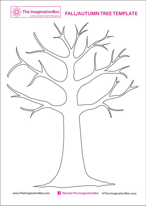 printable small leaves print this free tree template from the imaginationbox to