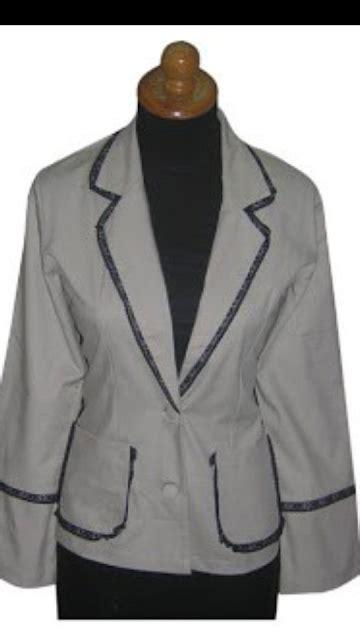 Blazer Sekolah ayufaiza gaun contoh model blazer