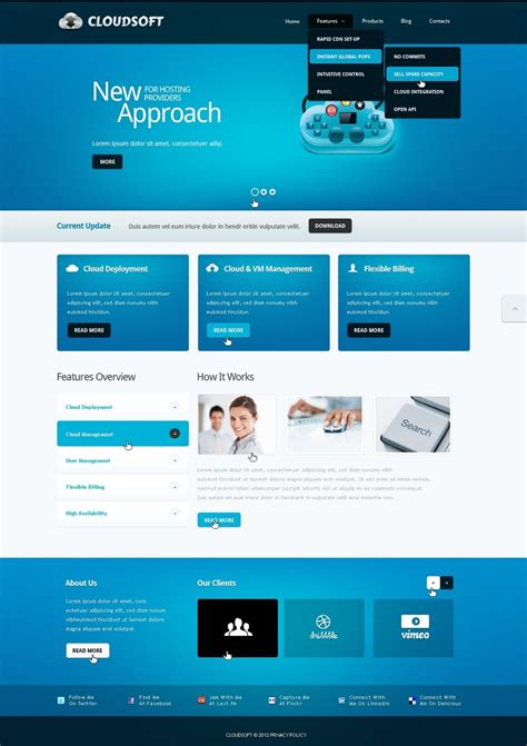 Software Company Drupal Template 39724 Software House Website Template