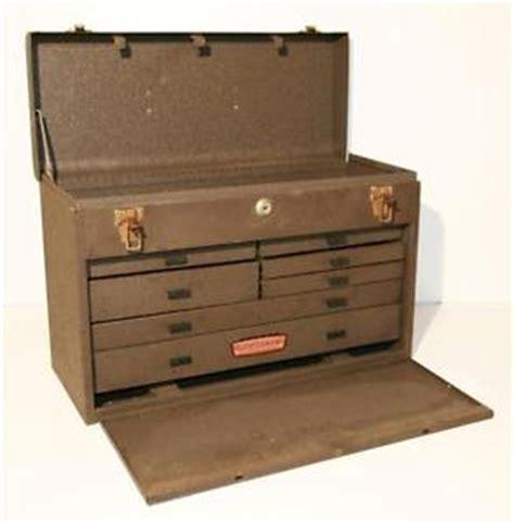 craftsman 7 drawer tool chest vtg craftsman machinist toolbox metal lock 7 drawer