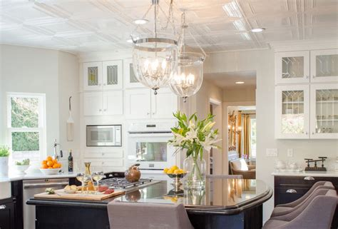 ideas for cheap kitchen ceiling homes
