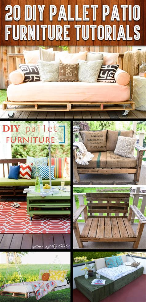 diy outdoor patio furniture 20 diy pallet patio furniture tutorials for a chic and