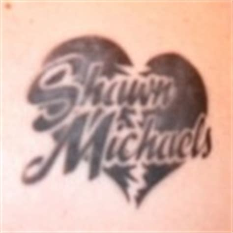 shawn michaels tattoo 187 tattoos